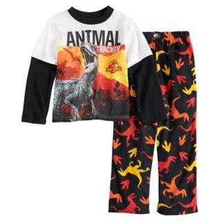 Boys 4-10 Jurassic Wold 2-Piece Pajama Set