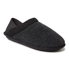 Men's Dearfoams Felted Closed Back Slippers