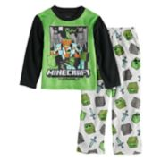 Boys 6-12 Minecraft 2-Pajama Set