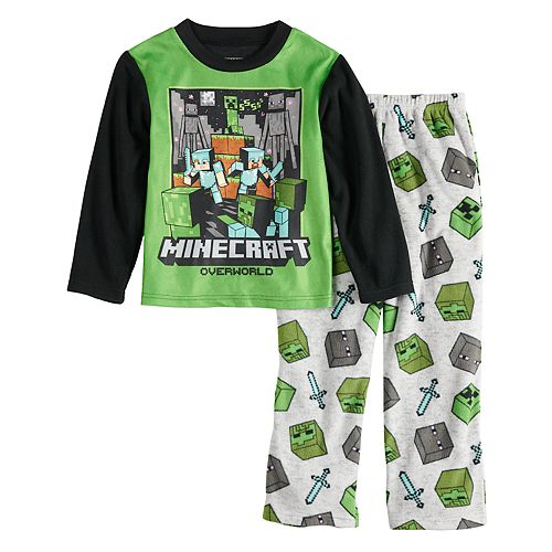 Boys 6-12 Minecraft 2-Pajama Set