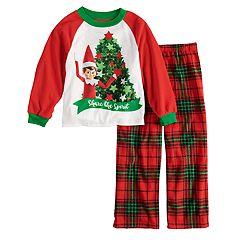 boys 4 10 elf on the shelf 2 piece pajama set - Elf Christmas Pajamas