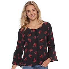 Juniors' Grayson Threads Crochet Trim Blouse