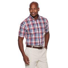 7662912abdf Mens Red Plaid Button-Down Shirts Short Sleeve Tops, Clothing | Kohl's