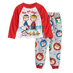 Boys 4-10 Peanuts 2-Piece Fleece Pajama Set