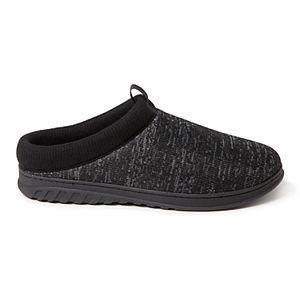 Men's Dearfoams Ribbed Knit Clog Slippers