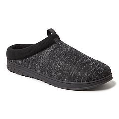 Men's Dearfoams Ribbed Knit Clog Slippers