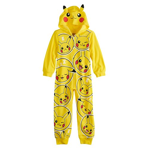Boys 6-12 Pokemon Pikachu Costume Union Suit