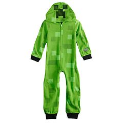 Boys 6-12 Minecraft Creeper Costume Union Suit