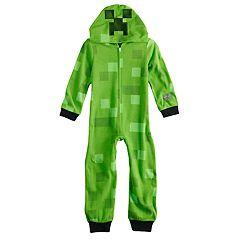 Boys 6-12 Minecraft Creeper Costume Union Suit