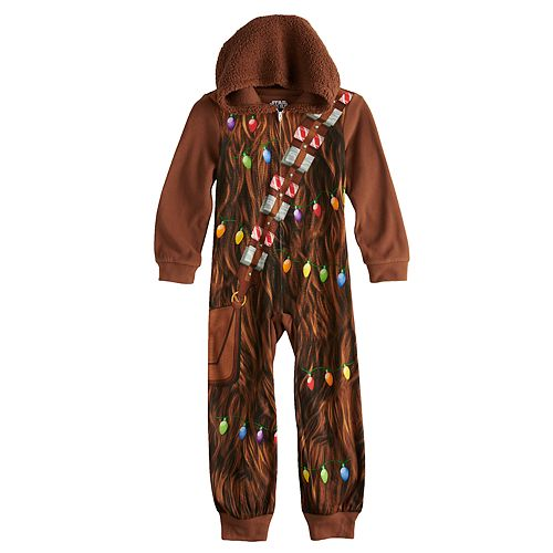 Boys 6-12 Star Wars Chewbacca Costume Union Suit