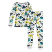Toddler Boy Cuddl Duds Dinosaur Thermal Top & Bottoms Set