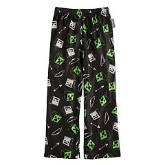 Boys 4-16 Minecraft Night Shadows Lounge Pants