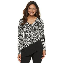 Women's Dana Buchman Travel Anywhere Print Asymmetrical-Hem Tunic