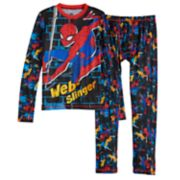 Boys 4-18 Cuddl Duds Spider-Man ClimateSmart 2-Piece Baselayer Set