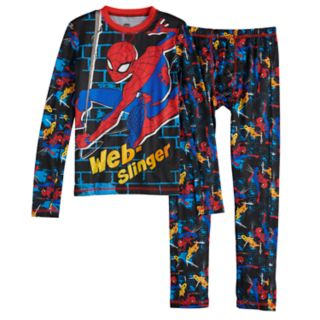 Boys 4-18 Cuddl Duds Spider-Man ClimateSmart 2-Piece Baselayer Set