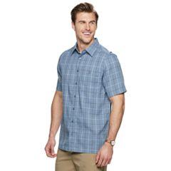 Big & Tall Haggar® Regular-Fit Microfiber Easy-Care Button-Down Shirt