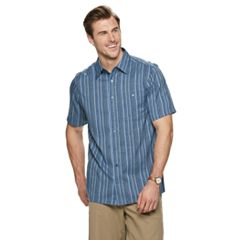 bd9fb42074 Big   Tall Haggar® Regular-Fit Microfiber Easy-Care Button-Down Shirt.  London Blue ...