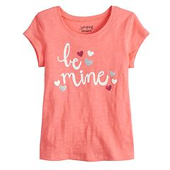 Toddler Girl Jumping Beans® Glitter Hearts Glitter Graphic Tee