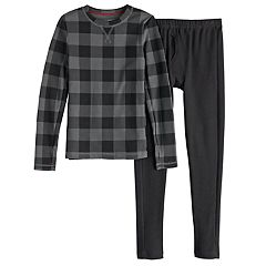 Boys 4-18 Cuddl Duds Thermal Top & Bottoms Set