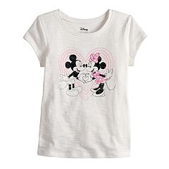 Disney's Mickey Mouse & Minnie Mouse Toddler Girl Heart Graphic Tee by Disney/Jumping Beans®
