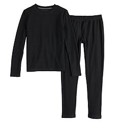 Boys 4-18 Cuddl Duds Grid ClimateSmart 2-Piece Baselayer Set