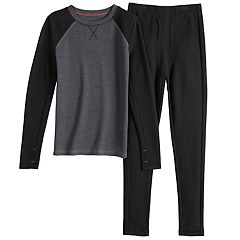 Boys 4-18 Cuddl Duds Printed Thermal Top & Bottoms Set