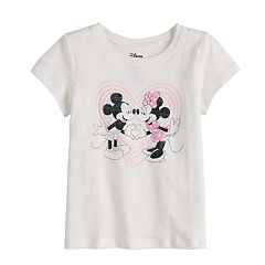 Disney's Mickey & Minnie Mouse Baby Girl Heart Graphic Tee by Jumping Beans®