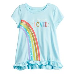 Baby Girl Jumping Beans® Short-Sleeve Ruffled Top