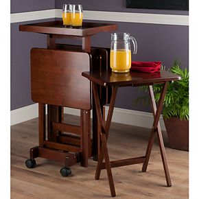 Winsome Snack Tray Table 6-piece Set