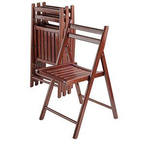 Winsome Robin Folding Chair 4-piece Set