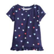 Toddler Girl Jumping Beans® Short-Sleeve Ruffled Graphic Tee