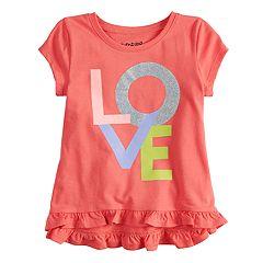 Toddler Girl Jumping Beans® Short-Sleeve Ruffled Graphic Tee