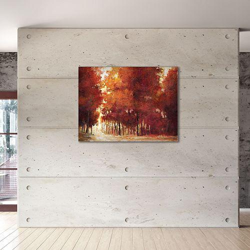 """New View Evening Light 22"""" x 28"""" Canvas Wall Art"""