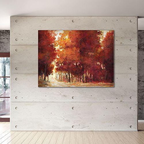 """New View Evening Light 30"""" x 40"""" Canvas Wall Art"""