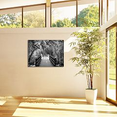 New View Autumn Bridge 22' x 28' Canvas Wall Art