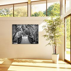 New View Autumn Bridge 30' x 40' Canvas Wall Art