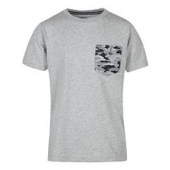 Boys 8-20 Camouflage-Back Tee