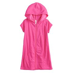 Girls 4-6x SO® Hooded Swimsuit Cover-Up