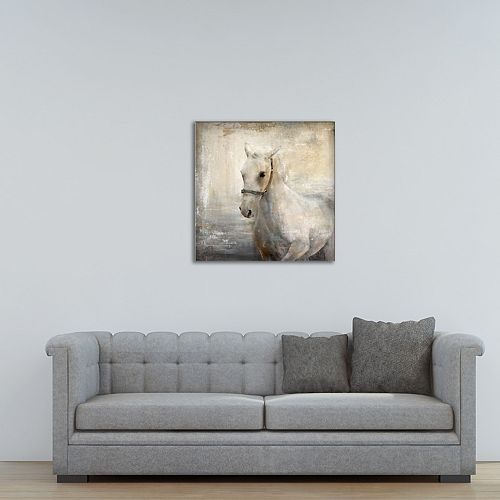 """New View Tribe 2 Horse 24"""" x 24"""" Canvas Wall Art"""
