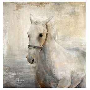 "New View Tribe 2 Horse 24"" x 24"" Canvas Wall Art"