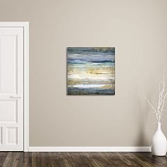 New View Gold Abstract 24' x 24' Canvas Wall Art