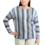 Plus Size Chaps Stripe Sweater