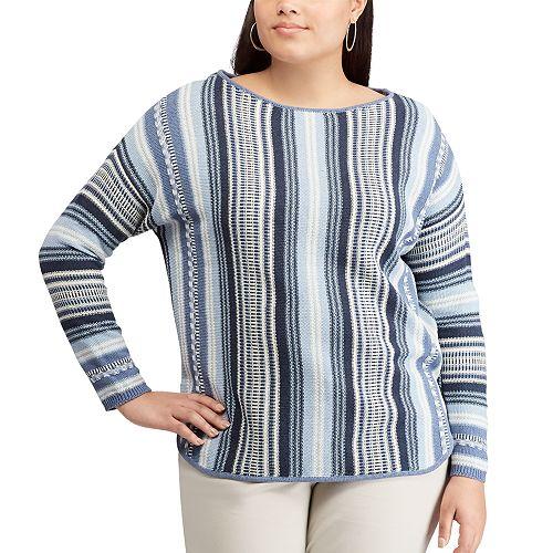 Plus Size Chaps Stripe Sweater