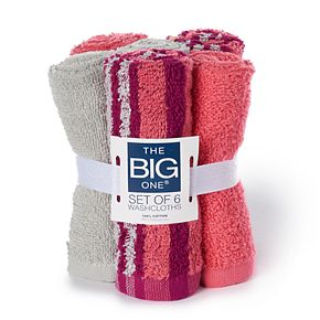 The Big One® 6-pack Washcloth Set