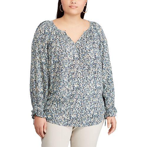 Plus Size Chaps Floral Top
