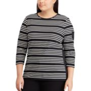 Plus Size Chaps Stripe Top