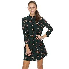 Juniors' Lily Rose Flower Swing Dress