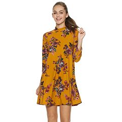 Juniors' Lily Rose Flower Swing Dress