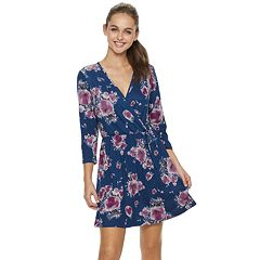 Juniors' Lily Rose Faux Wrap Dress