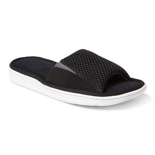 Men's Dearfoams Mixed Mesh & Gore Slide Slippers